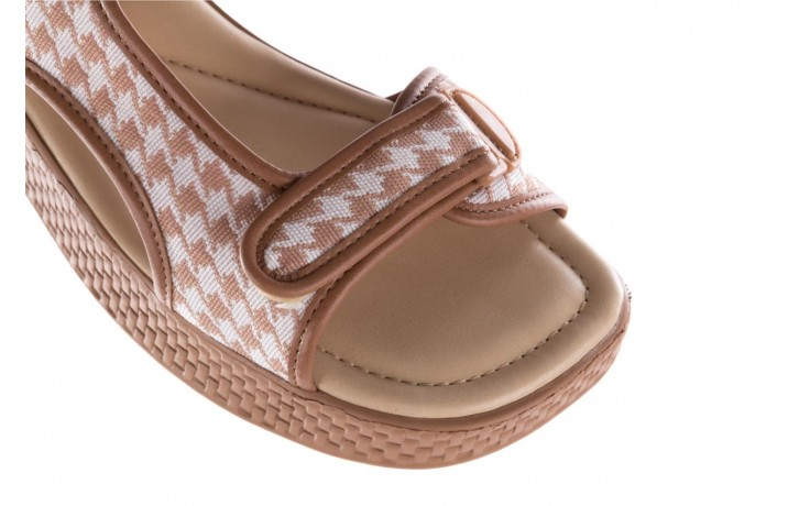 Sandały azaleia 321 295 amber plaid, brąz/ biały, materiał - azaleia - nasze marki 5