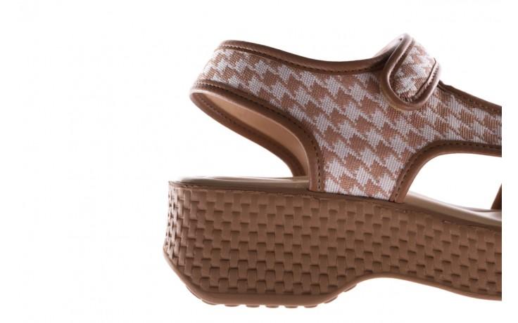 Sandały azaleia 321 295 amber plaid, brąz/ biały, materiał - azaleia - nasze marki 6