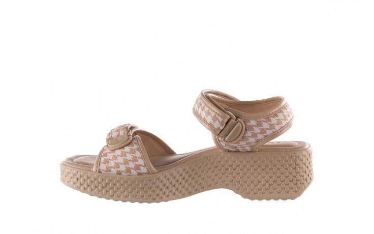 Sandały azaleia 321 293 beige plaid, beż/ biały, materiał - azaleia - nasze marki 2