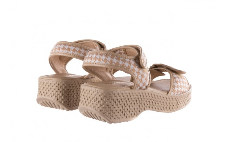 Sandały azaleia 321 293 beige plaid, beż/ biały, materiał - azaleia - nasze marki 3