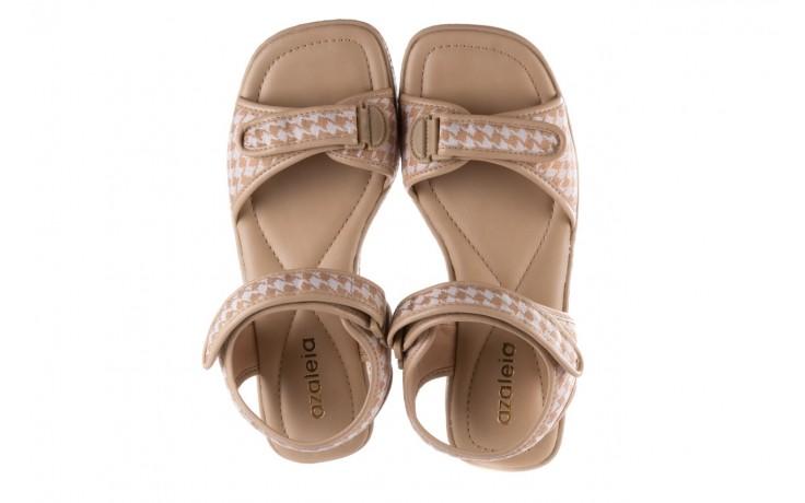 Sandały azaleia 321 293 beige plaid, beż/ biały, materiał - azaleia - nasze marki 4