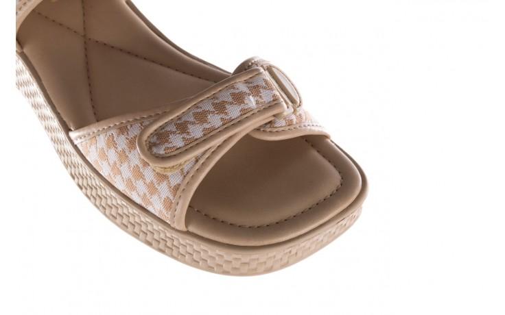 Sandały azaleia 321 293 beige plaid, beż/ biały, materiał - azaleia - nasze marki 5
