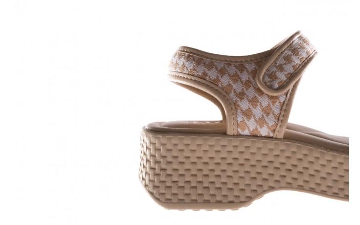 Sandały azaleia 321 293 beige plaid, beż/ biały, materiał - azaleia - nasze marki 6
