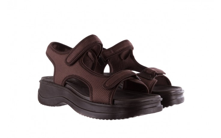 Sandały azaleia 320 323 brown 19, brąz, materiał 1