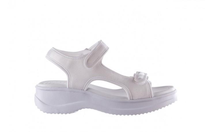 Sandały azaleia 320 323 white 20, białe, materiał - płaskie - sandały - buty damskie - kobieta
