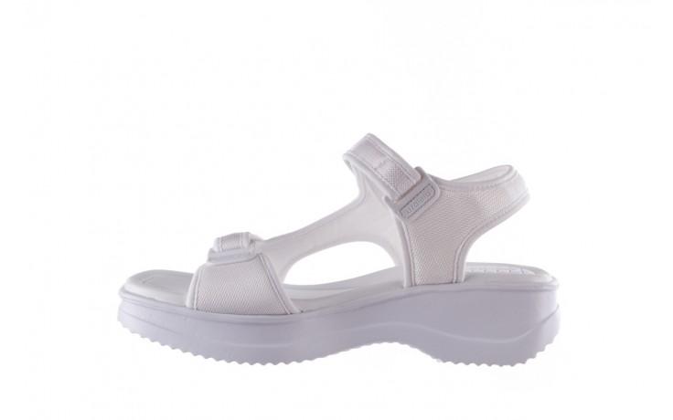 Sandały azaleia 320 323 white 20, białe, materiał - płaskie - sandały - buty damskie - kobieta 2