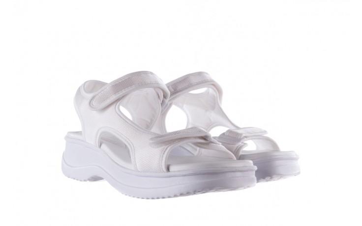 Sandały azaleia 320 323 white 20, białe, materiał - płaskie - sandały - buty damskie - kobieta 1