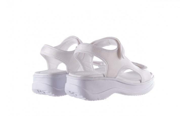 Sandały azaleia 320 323 white 20, białe, materiał - płaskie - sandały - buty damskie - kobieta 3