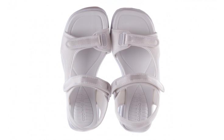 Sandały azaleia 320 323 white 20, białe, materiał - płaskie - sandały - buty damskie - kobieta 4