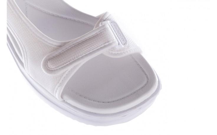 Sandały azaleia 320 323 white 20, białe, materiał - płaskie - sandały - buty damskie - kobieta 5