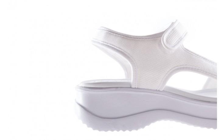 Sandały azaleia 320 323 white 20, białe, materiał - płaskie - sandały - buty damskie - kobieta 6