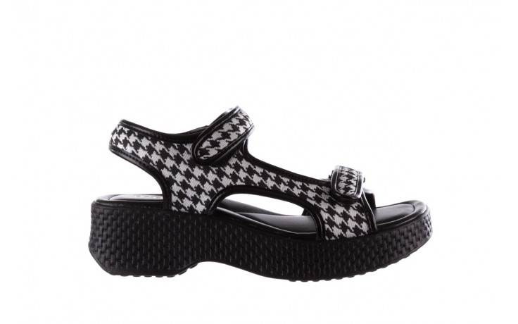 Sandały azaleia 321 295 black plaid, czarny/ biały, materiał - azaleia - nasze marki