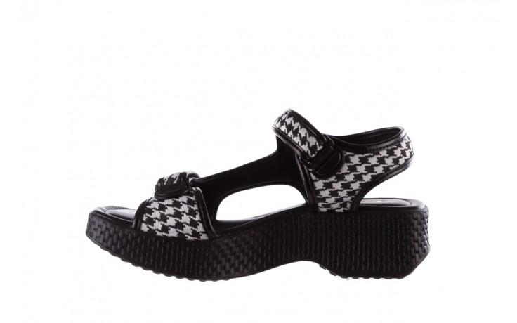 Sandały azaleia 321 295 black plaid, czarny/ biały, materiał - azaleia - nasze marki 2
