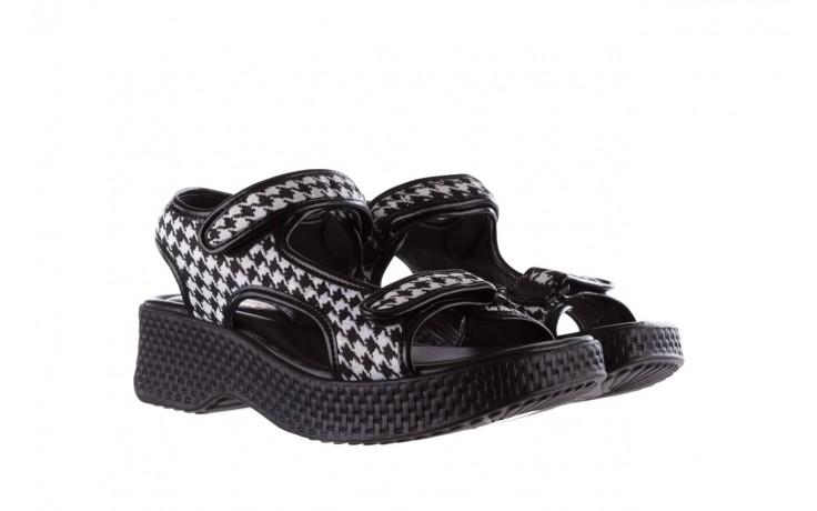 Sandały azaleia 321 295 black plaid, czarny/ biały, materiał - azaleia - nasze marki 1