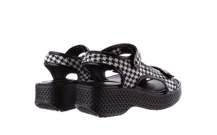 Sandały azaleia 321 295 black plaid, czarny/ biały, materiał - azaleia - nasze marki 3