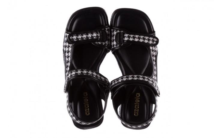 Sandały azaleia 321 295 black plaid, czarny/ biały, materiał - azaleia - nasze marki 4