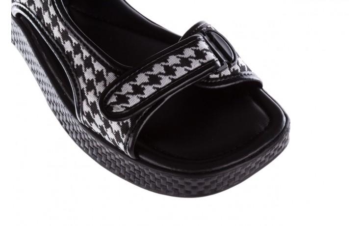 Sandały azaleia 321 295 black plaid, czarny/ biały, materiał - azaleia - nasze marki 5