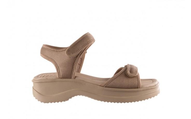 Sandały azaleia 320 321 beige sand 20, beż, materiał - sale