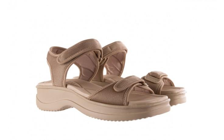 Sandały azaleia 320 321 beige sand 20, beż, materiał - sandały - buty damskie - kobieta 1