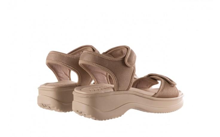 Sandały azaleia 320 321 beige sand 20, beż, materiał - sandały - buty damskie - kobieta 3