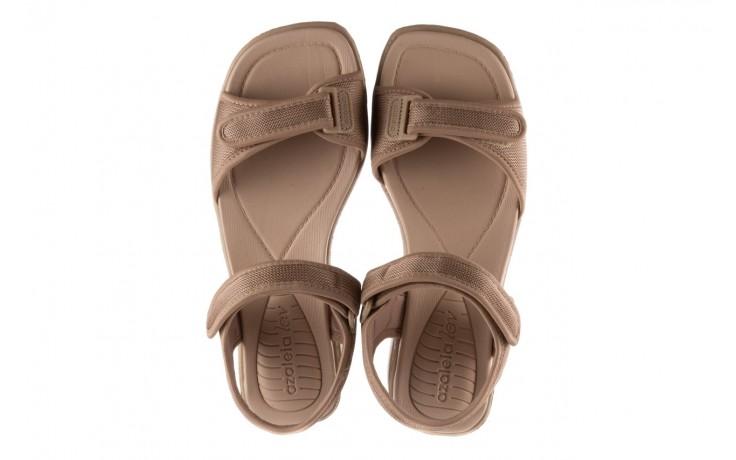 Sandały azaleia 320 321 beige sand 20, beż, materiał - sandały - buty damskie - kobieta 4