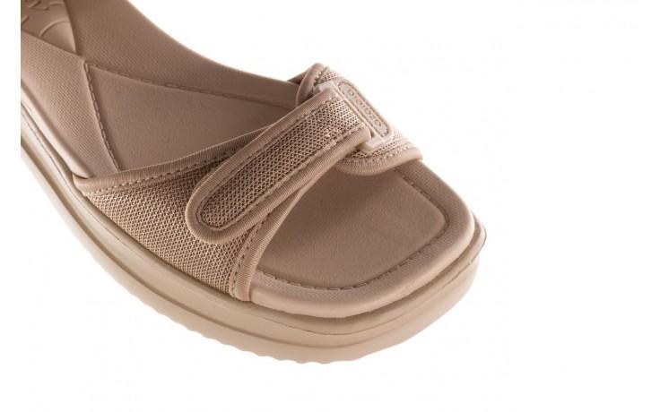Sandały azaleia 320 321 beige sand 20, beż, materiał - sandały - buty damskie - kobieta 5