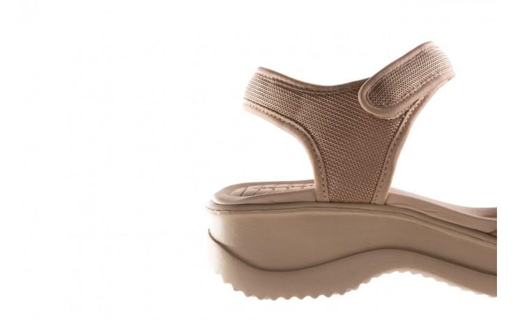 Sandały azaleia 320 321 beige sand 20, beż, materiał - sandały - buty damskie - kobieta 6