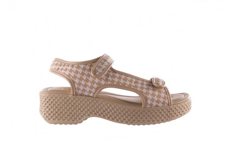 Sandały azaleia 321 295 beige plaid, biały/ beż, materiał - azaleia - nasze marki