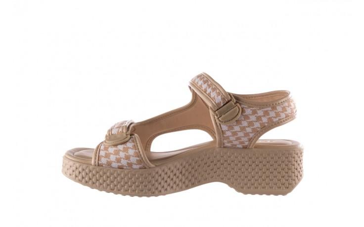Sandały azaleia 321 295 beige plaid, biały/ beż, materiał - azaleia - nasze marki 2