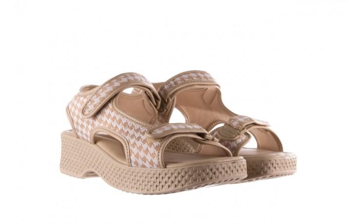Sandały azaleia 321 295 beige plaid, biały/ beż, materiał - azaleia - nasze marki 1
