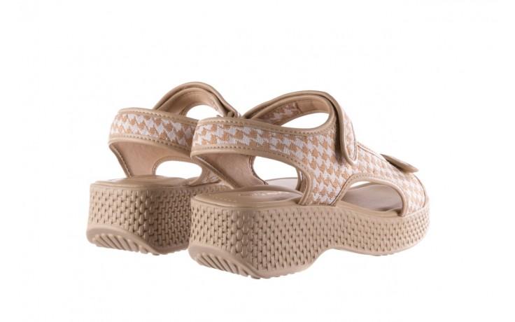 Sandały azaleia 321 295 beige plaid, biały/ beż, materiał - azaleia - nasze marki 3