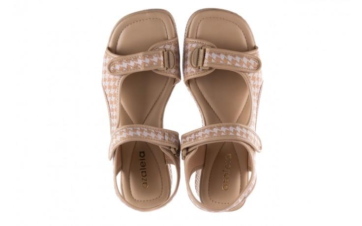 Sandały azaleia 321 295 beige plaid, biały/ beż, materiał - azaleia - nasze marki 4