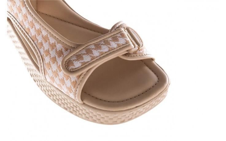 Sandały azaleia 321 295 beige plaid, biały/ beż, materiał - azaleia - nasze marki 5