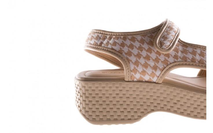 Sandały azaleia 321 295 beige plaid, biały/ beż, materiał - azaleia - nasze marki 6