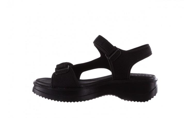 Sandały azaleia 320 323 black black 20, czarny, materiał - sale 2