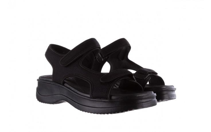 Sandały azaleia 320 323 black black 20, czarny, materiał - sale 1