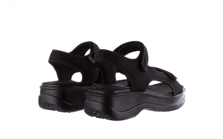 Sandały azaleia 320 323 black black 20, czarny, materiał - sale 3