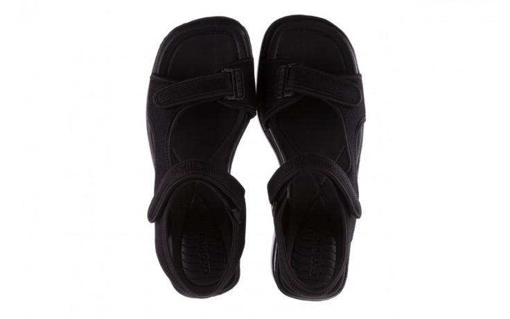 Sandały azaleia 320 323 black black 20, czarny, materiał - sale 4