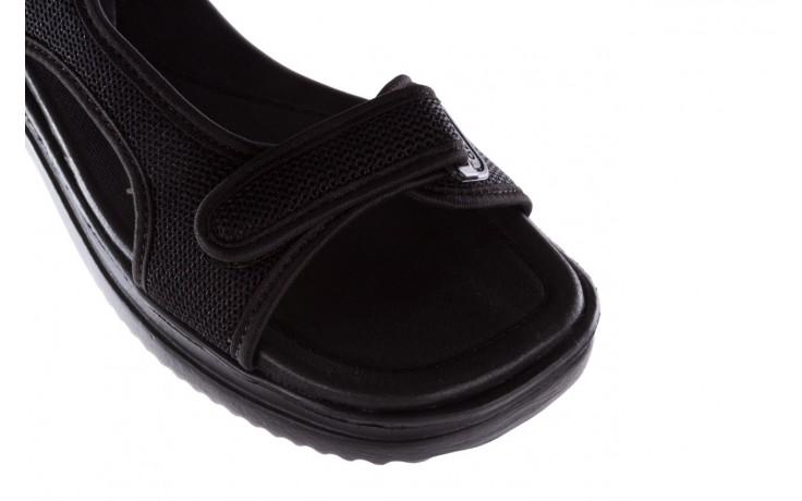 Sandały azaleia 320 323 black black 20, czarny, materiał - sale 5