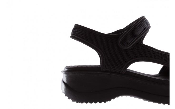 Sandały azaleia 320 323 black black 20, czarny, materiał - sale 6