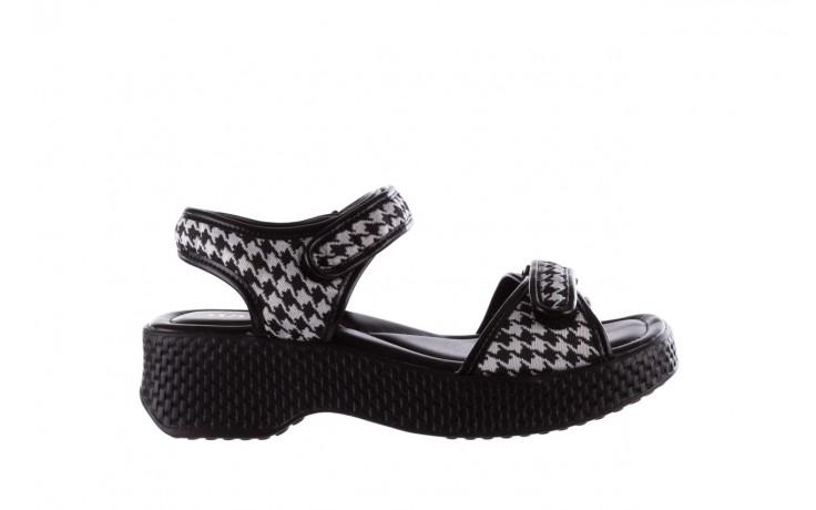 Sandały azaleia 321 293 black plaid, czarny/ biały, materiał - azaleia - nasze marki