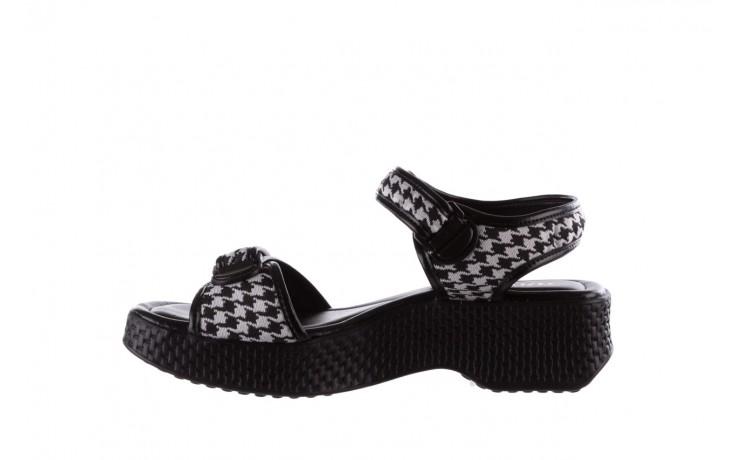 Sandały azaleia 321 293 black plaid, czarny/ biały, materiał - azaleia - nasze marki 2