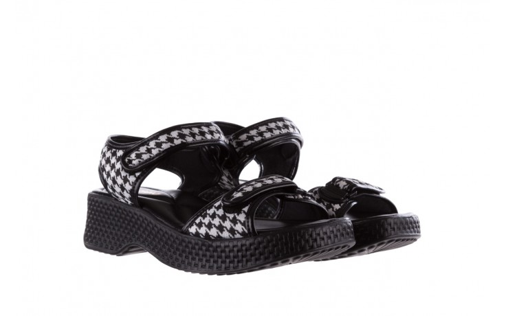 Sandały azaleia 321 293 black plaid, czarny/ biały, materiał - azaleia - nasze marki 1
