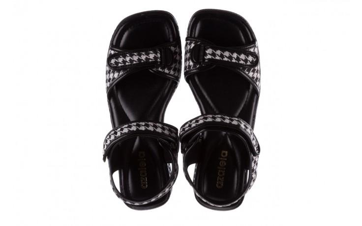 Sandały azaleia 321 293 black plaid, czarny/ biały, materiał - azaleia - nasze marki 4