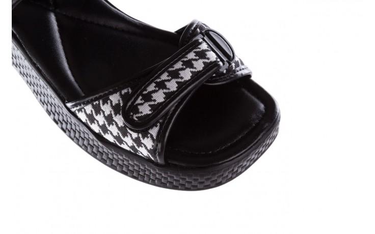 Sandały azaleia 321 293 black plaid, czarny/ biały, materiał - azaleia - nasze marki 6
