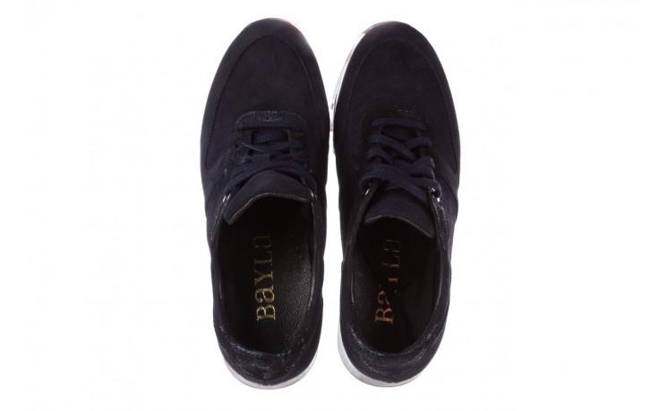 Sneakersy bayla-185 185 106 granat, skóra naturalna  - bayla - nasze marki 4