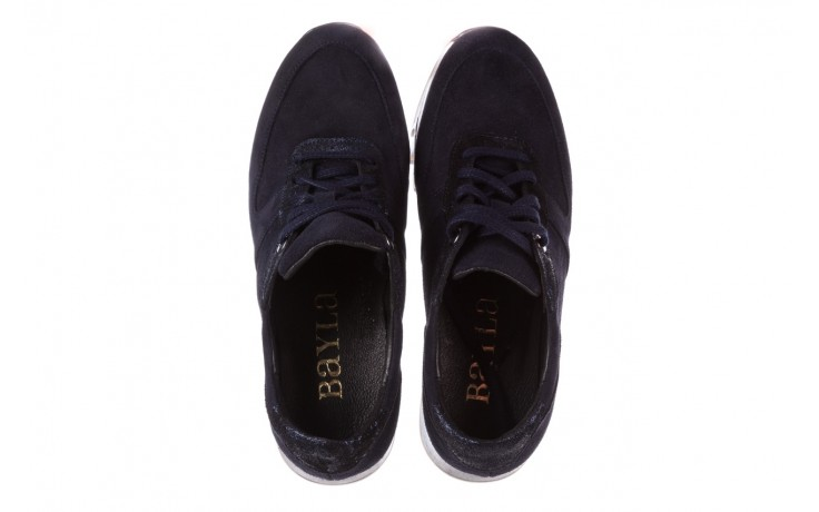 Sneakersy bayla-185 185 106 granat, skóra naturalna  - sneakersy - buty damskie - kobieta 4