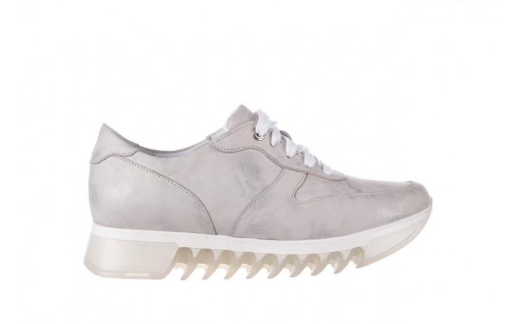 Sneakersy bayla-185 185 105 srebrny, skóra naturalna  - sneakersy - buty damskie - kobieta