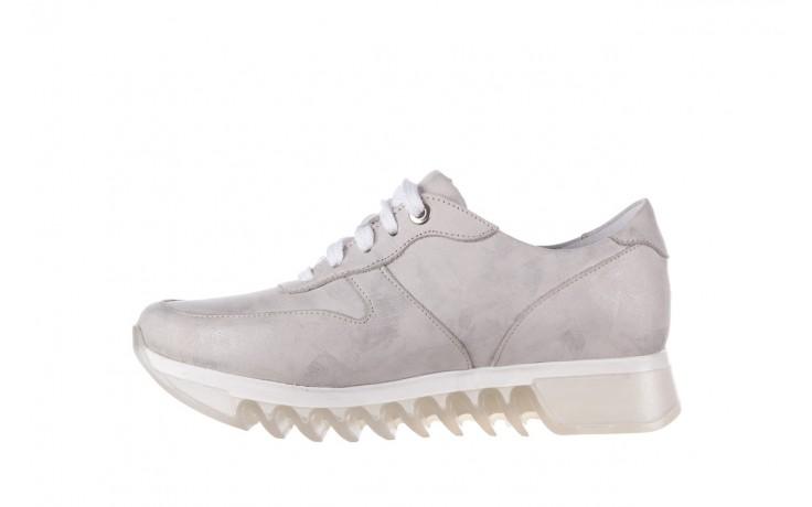 Sneakersy bayla-185 185 105 srebrny, skóra naturalna  - bayla - nasze marki 2