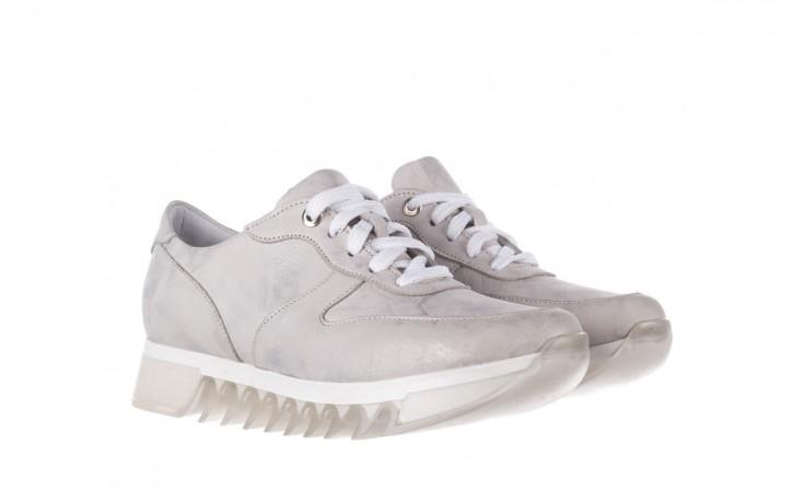 Sneakersy bayla-185 185 105 srebrny, skóra naturalna  - bayla - nasze marki 1